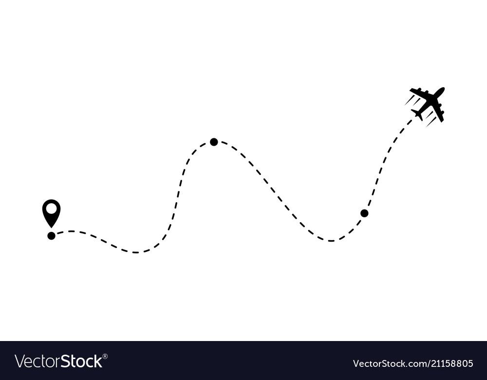 Airplane line path air plane route icoin
