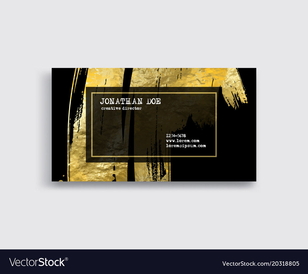 Black and gold business card template royalty free vector black and gold business card template vector image colourmoves