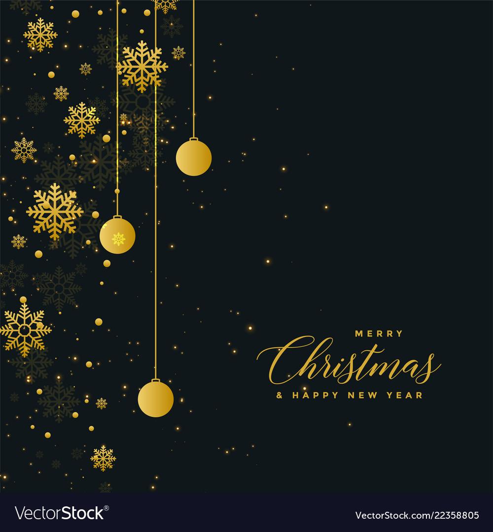 Christmas celebration dark poster design with