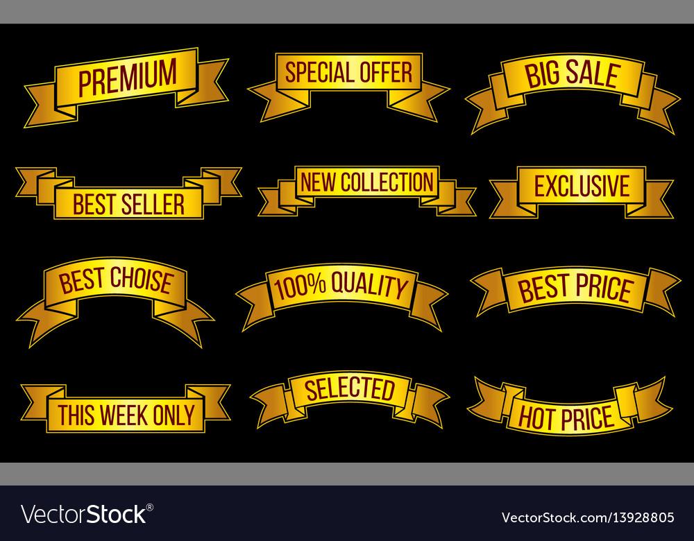 Luxury gold premium sales exclusive offer vector image