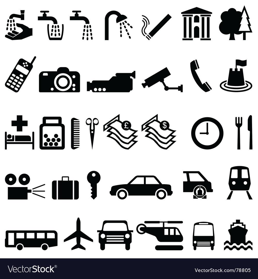 Signage elements vector image
