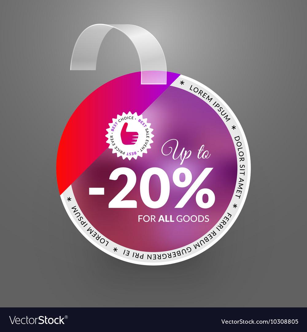 Wobbler design template for sale event