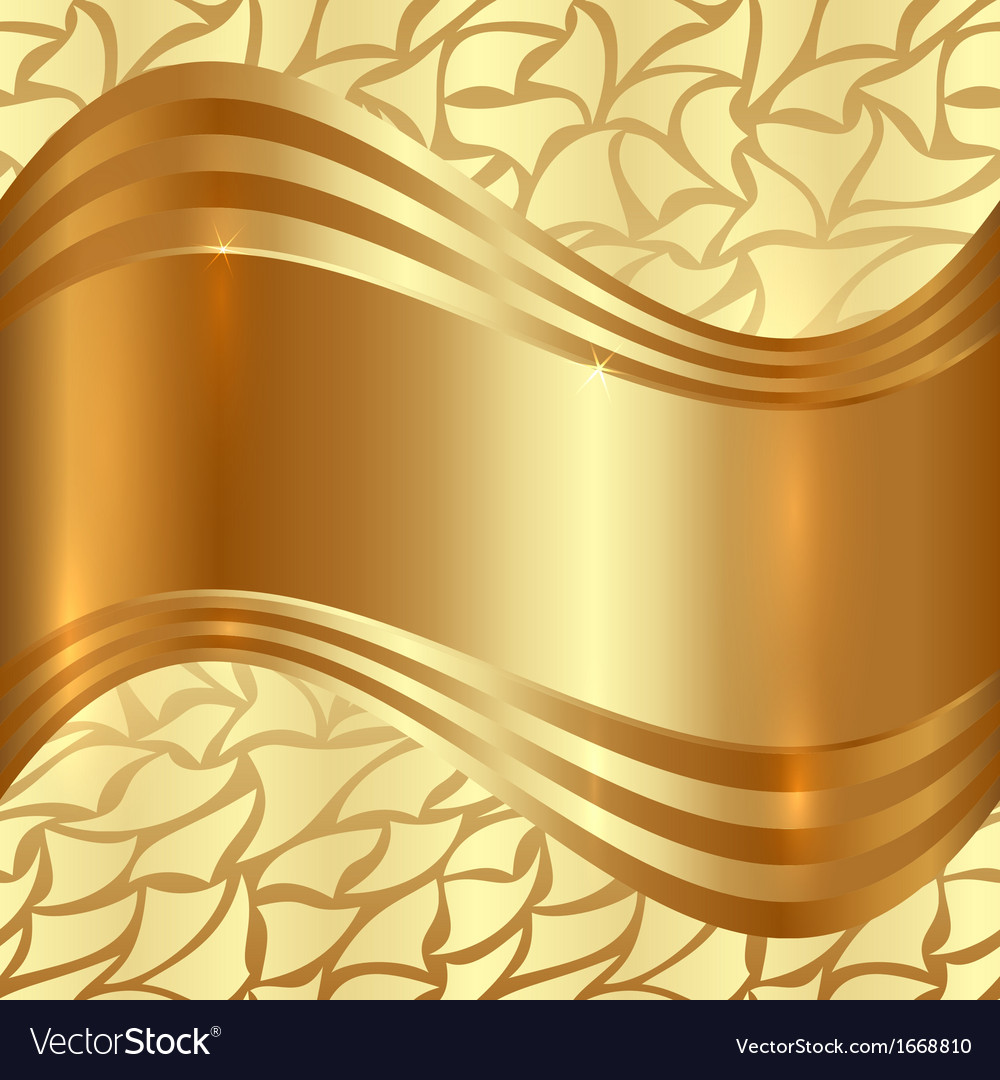 Abstract Gold Background With Curves vector image