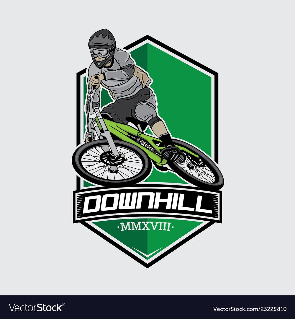 Downhill mountain bike logo