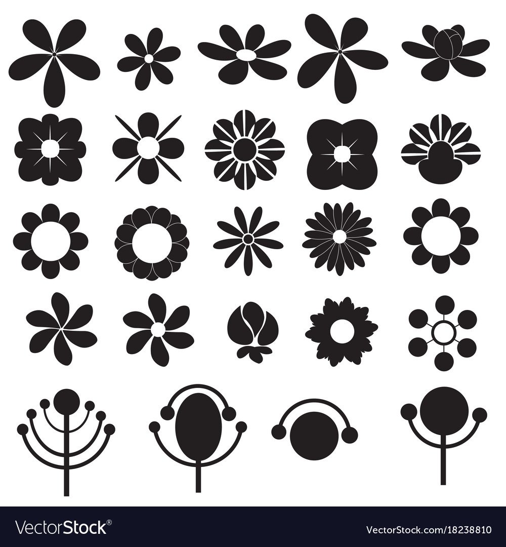 Flowers icon for decorative and beauty design