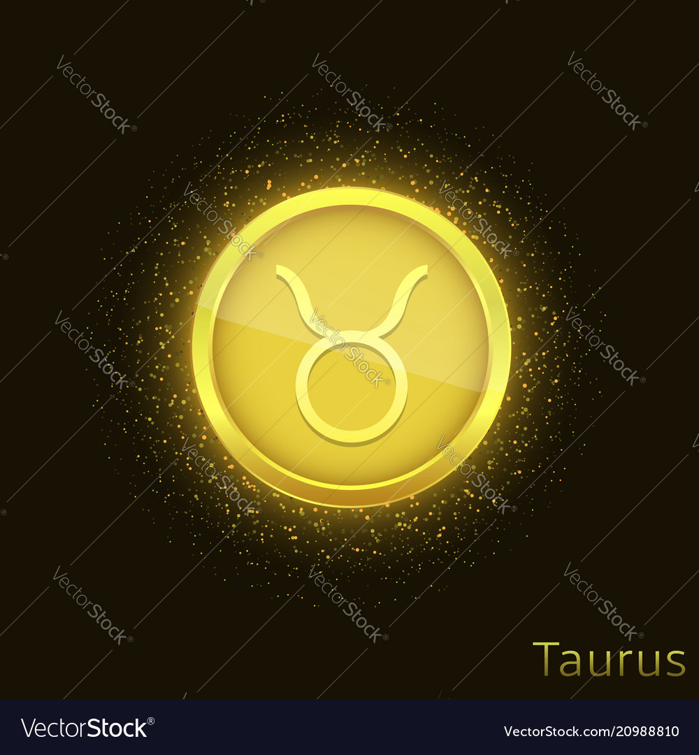 Golden taurus sign
