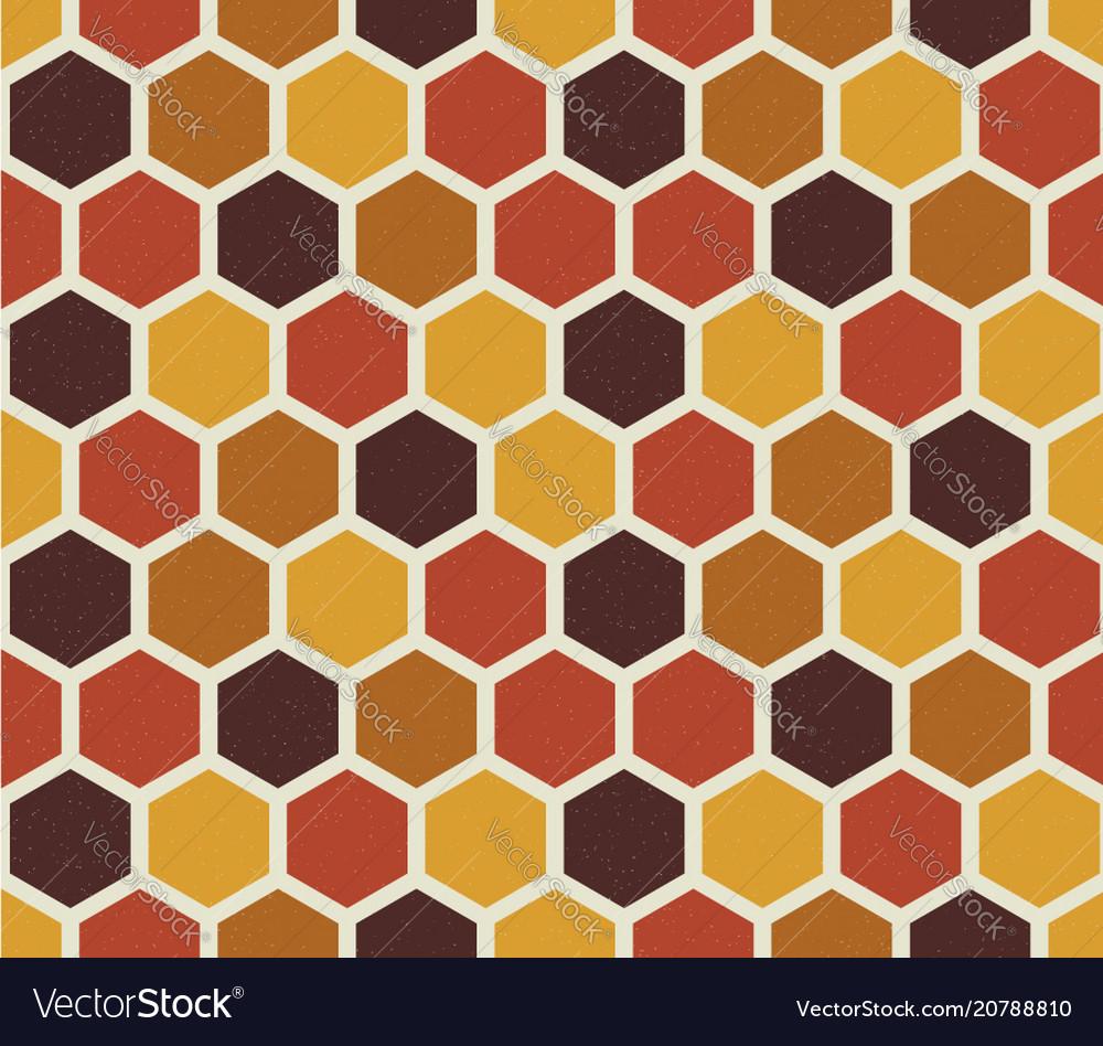 Hexagon seamless pattern retro style backdrop