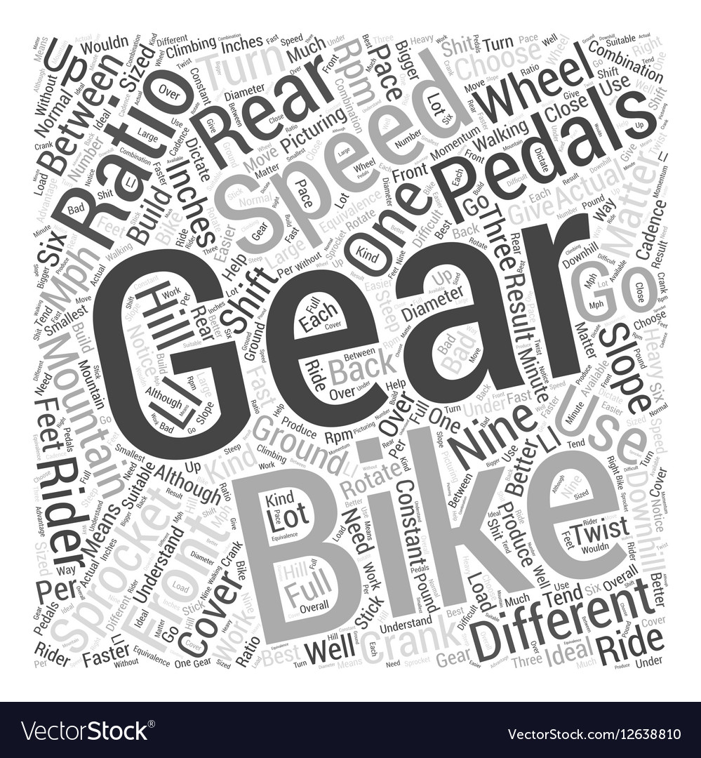 how mountain bike gears work word cloud concept vector image