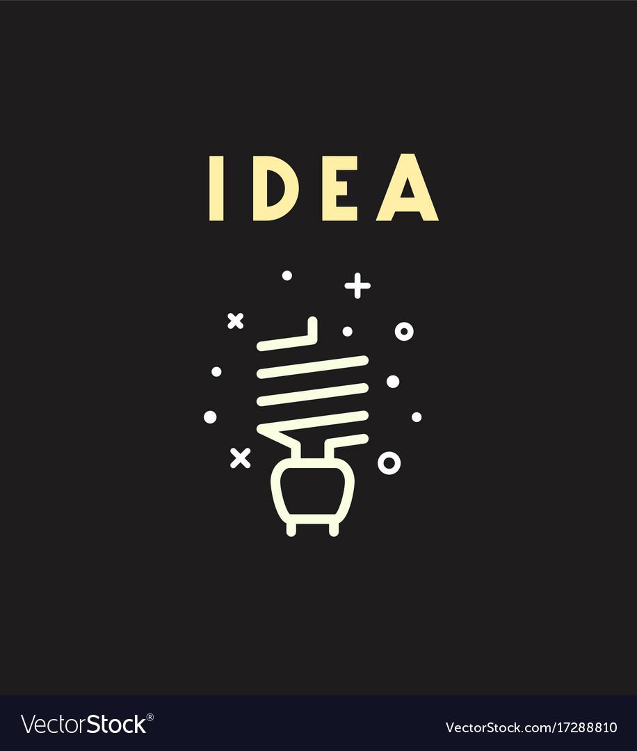 Light bulb icon idea concept