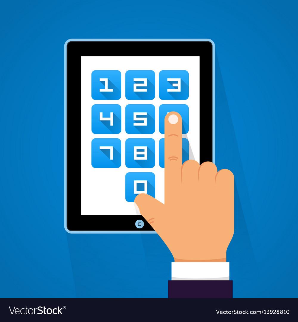 Password screen device
