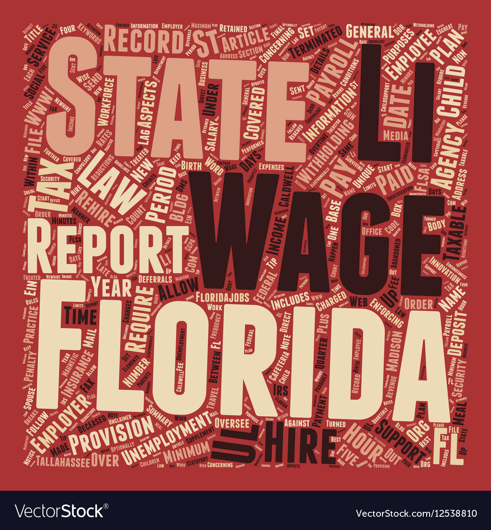 Payroll Florida Unique Aspects of Florida Payroll