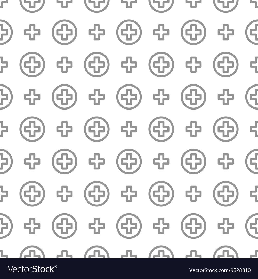 Seamless pattern ornament Cross and medicine