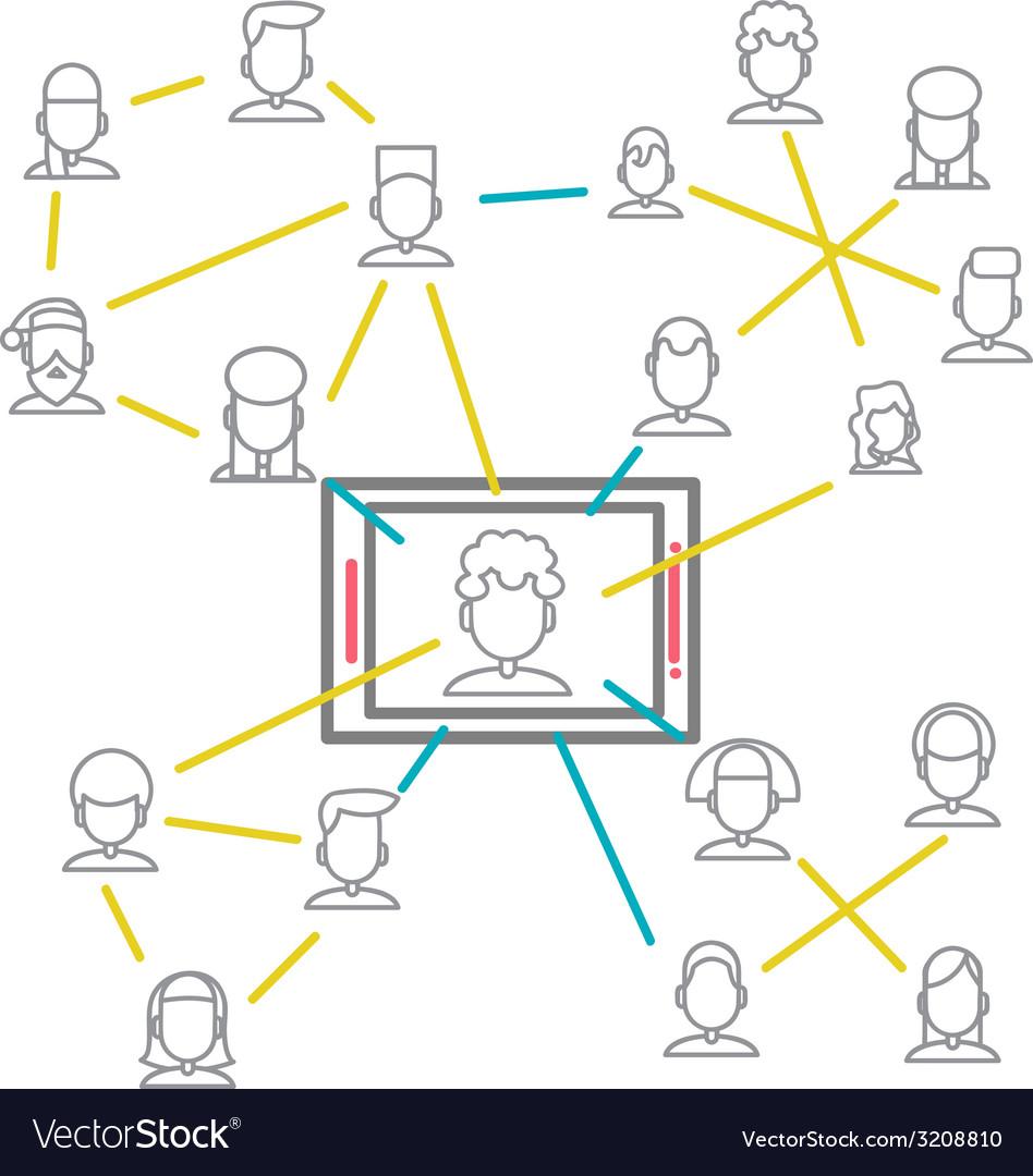 Social Networking People Conceptual Design vector image
