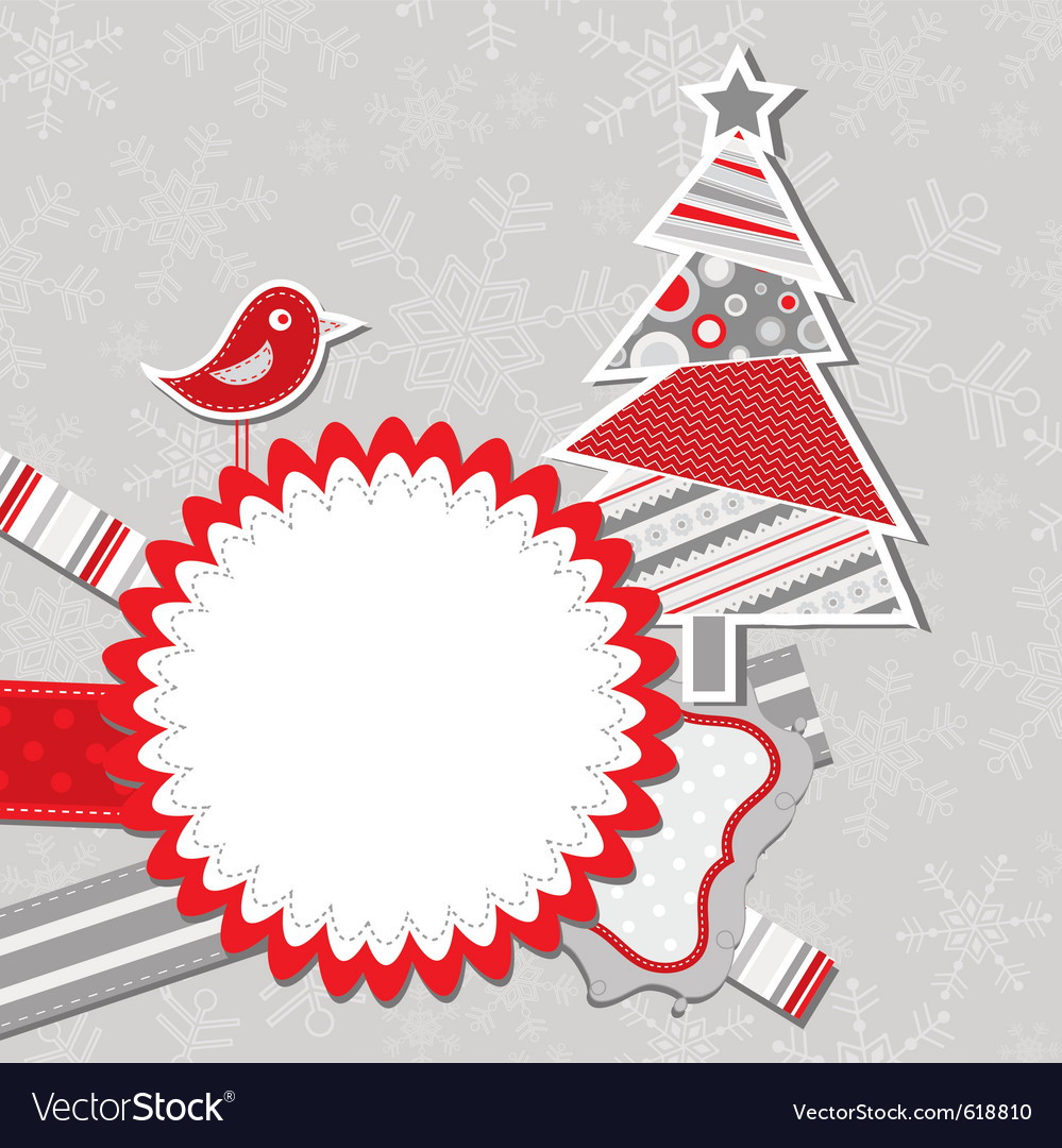 Template Christmas Greeting Card Royalty Free Vector Image