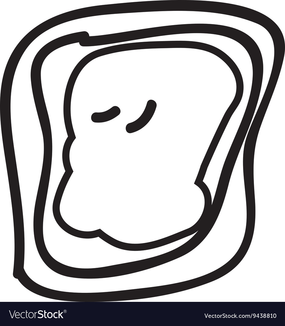 Toast with jam isolated icon design