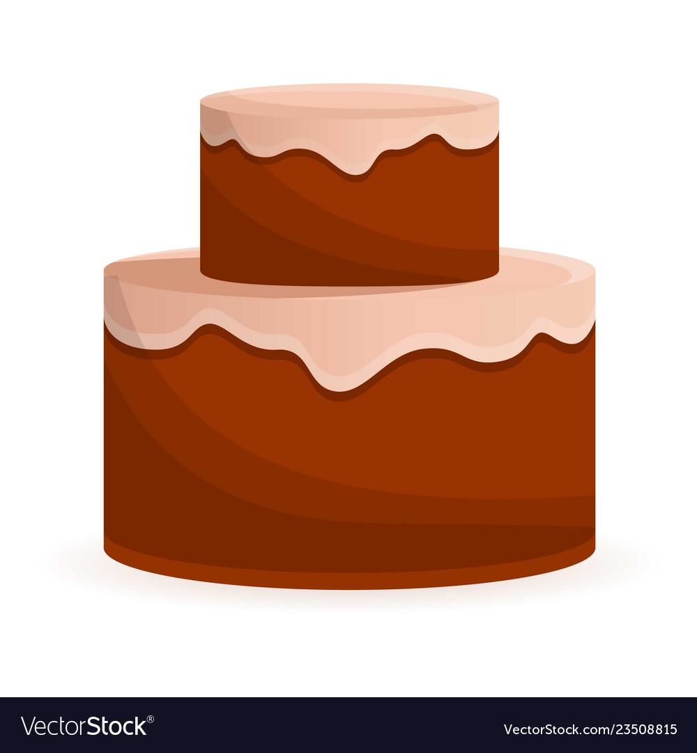 Anniversary cake icon cartoon style