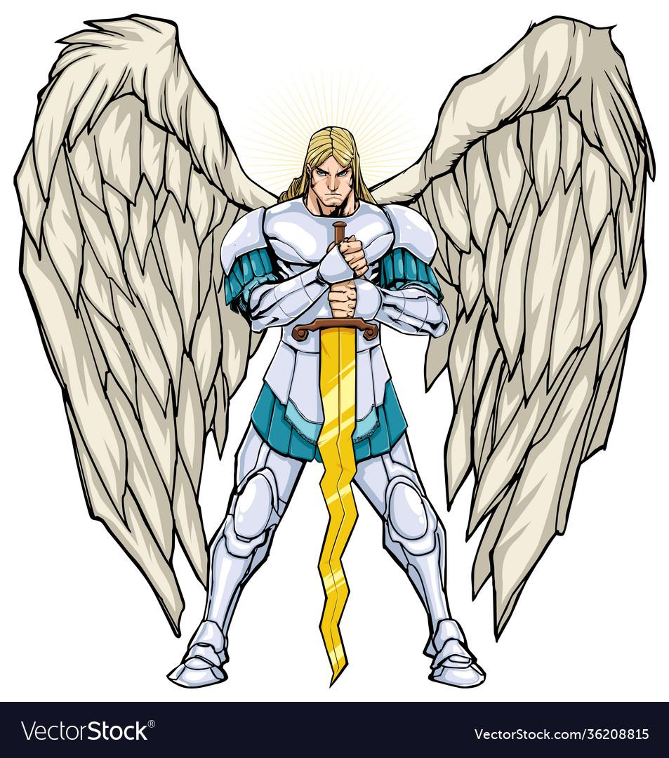 Archangel michael standing
