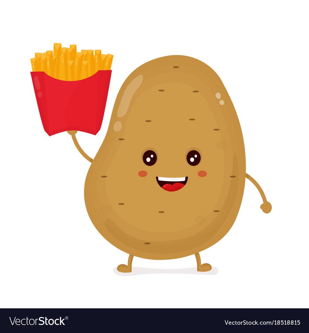 Cute happy smiling funny potato