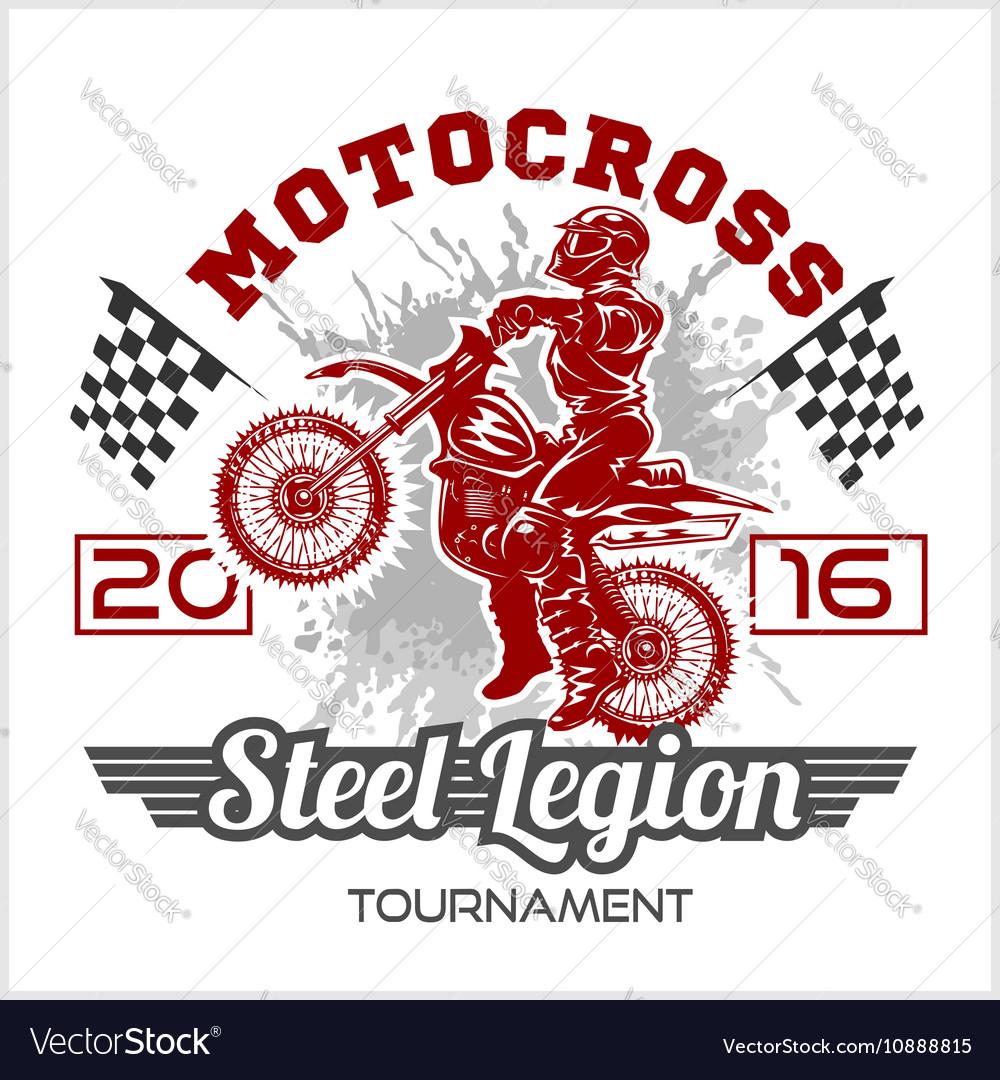 Extreme motocross Emblem t-shirt design
