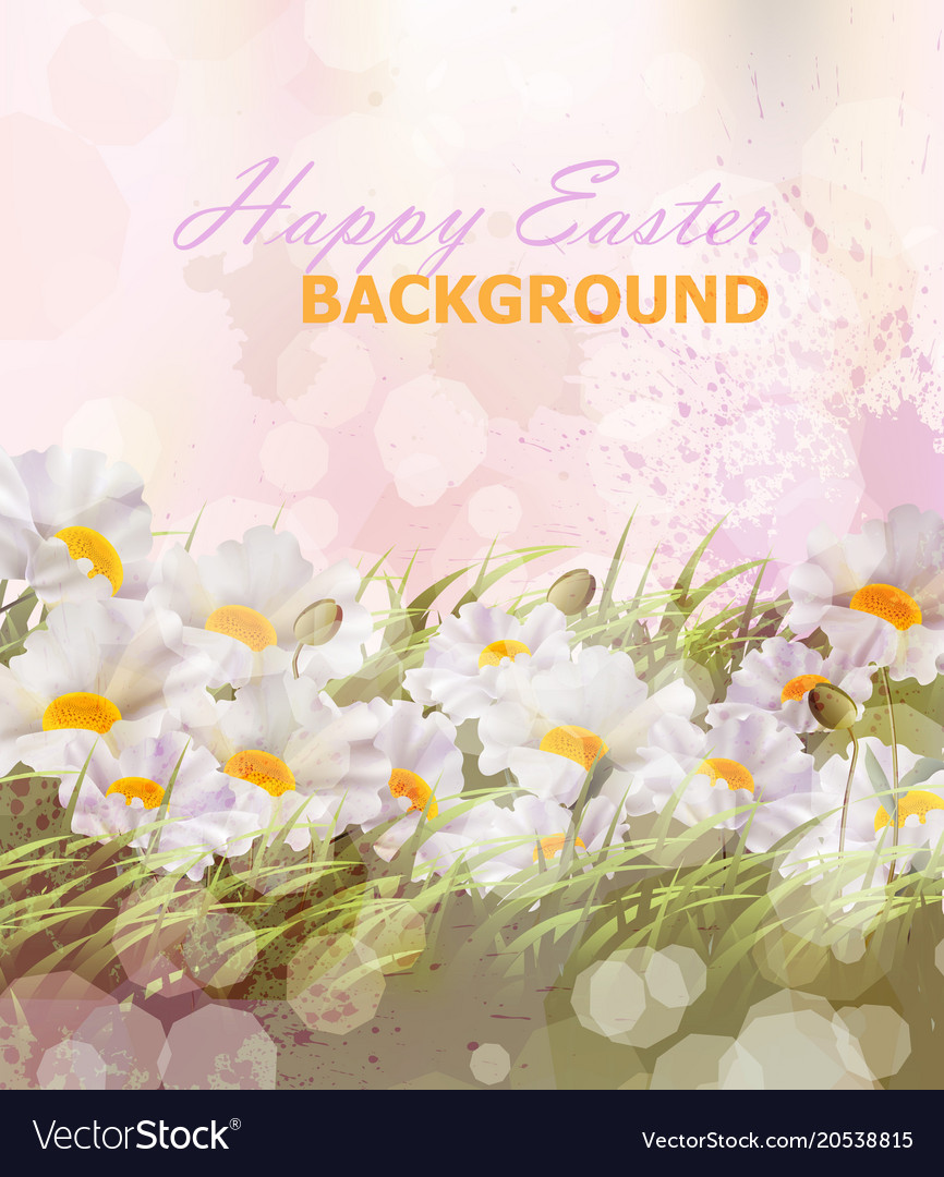 Happy easter background realistic