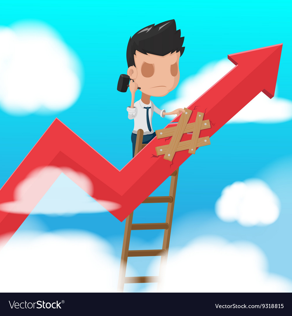 Man Worker Climbing ladder Fixed