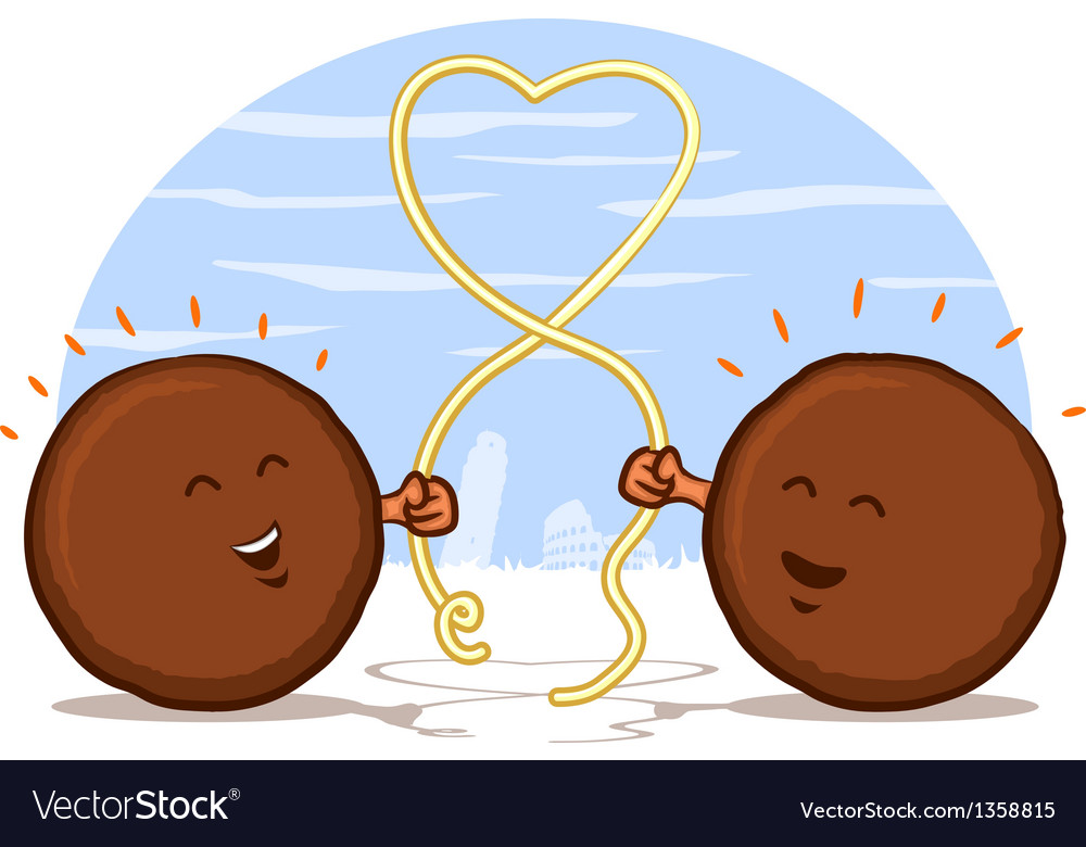 Meatball Heart vector image