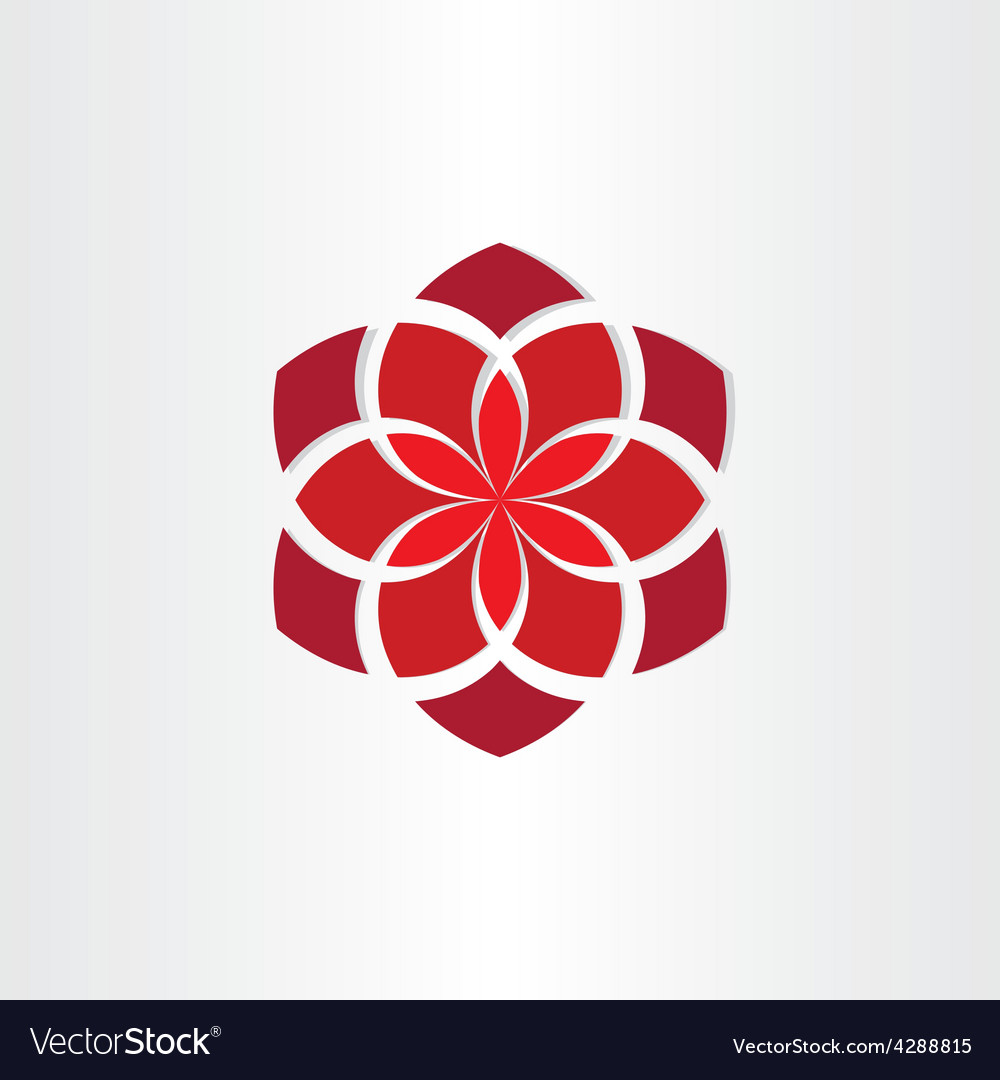 Red flower icon background