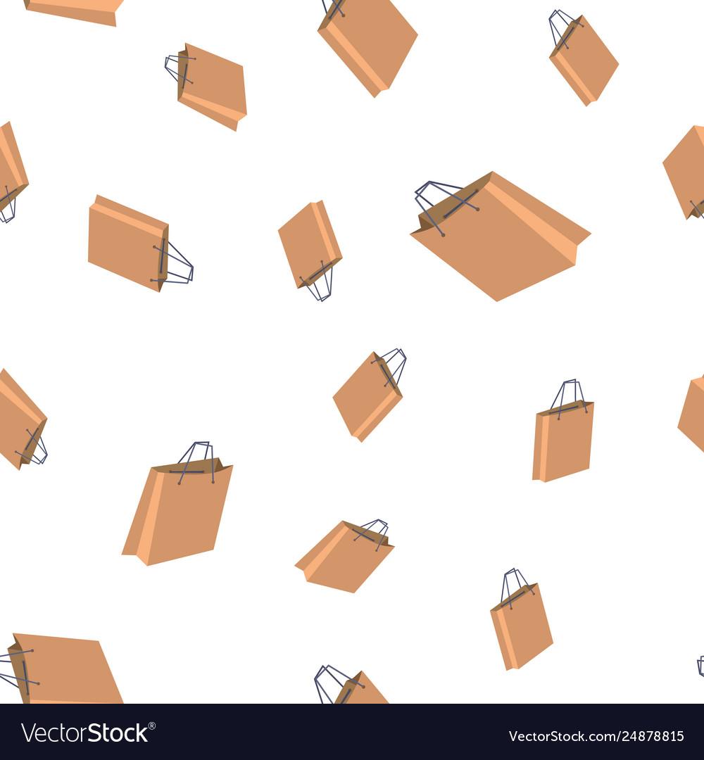 Shopping bag seamless pattern retail icon