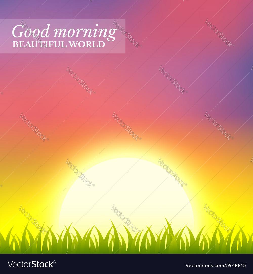 Sunrise vector image