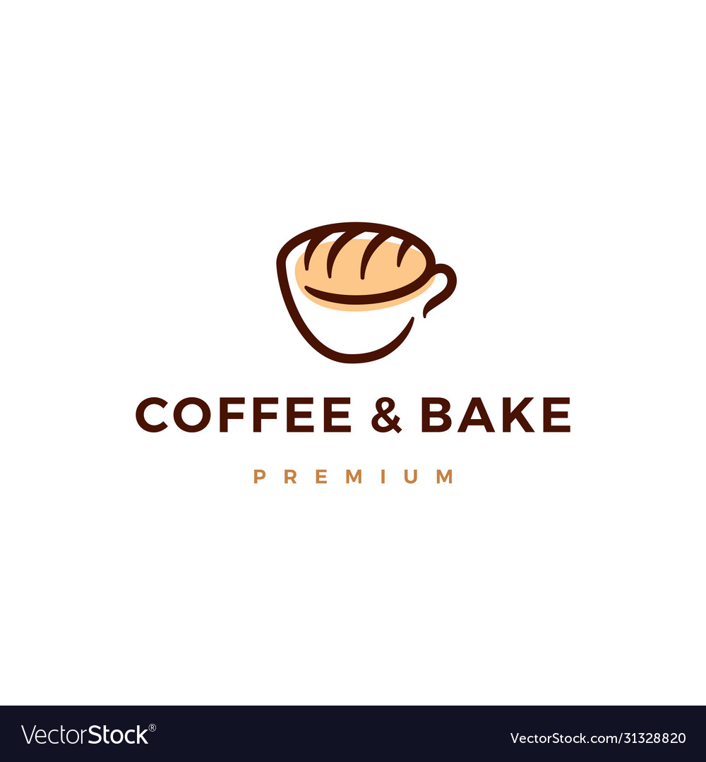 Coffee and bake bread logo icon