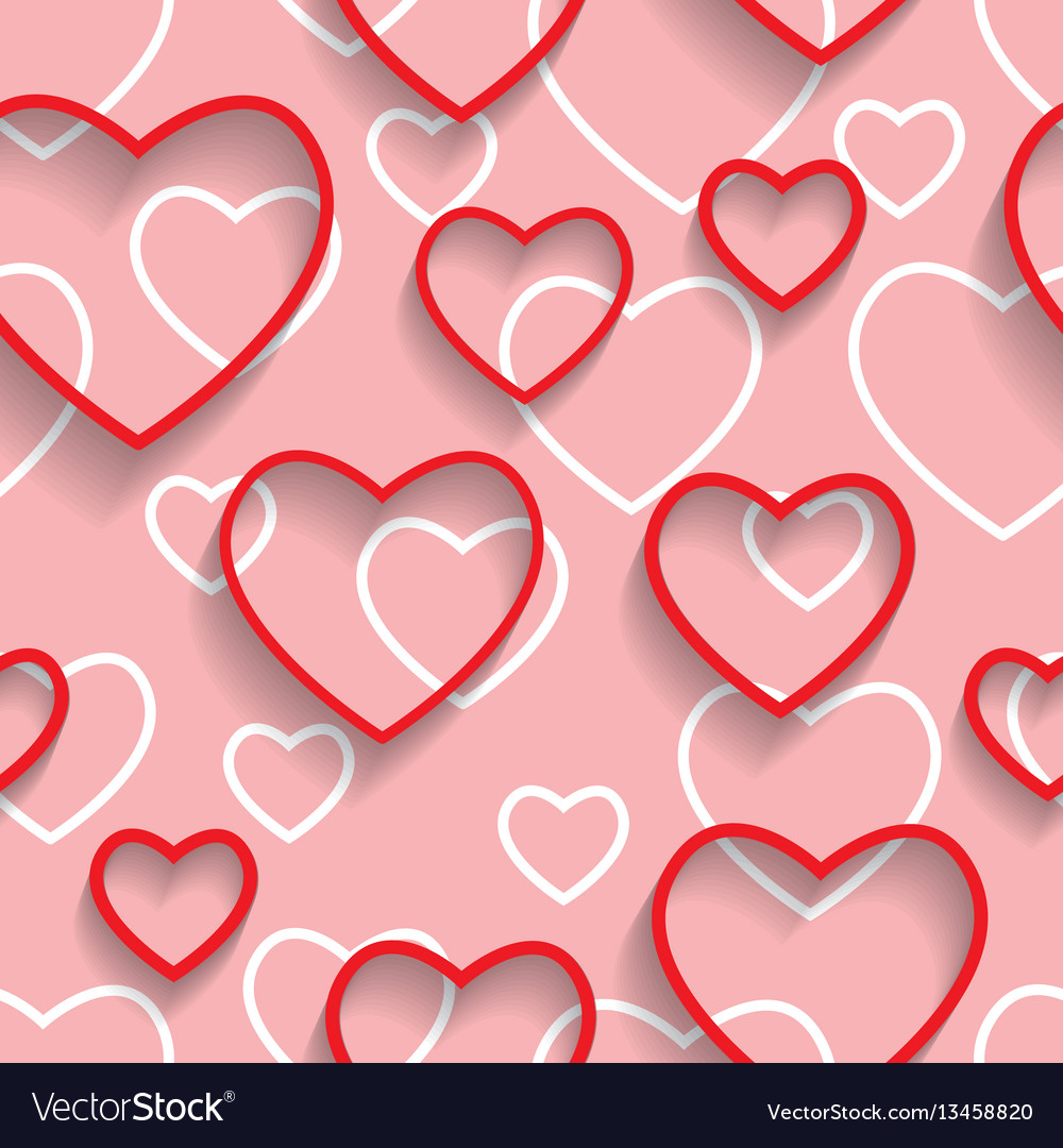 Happy valentines day seamless love and happiness