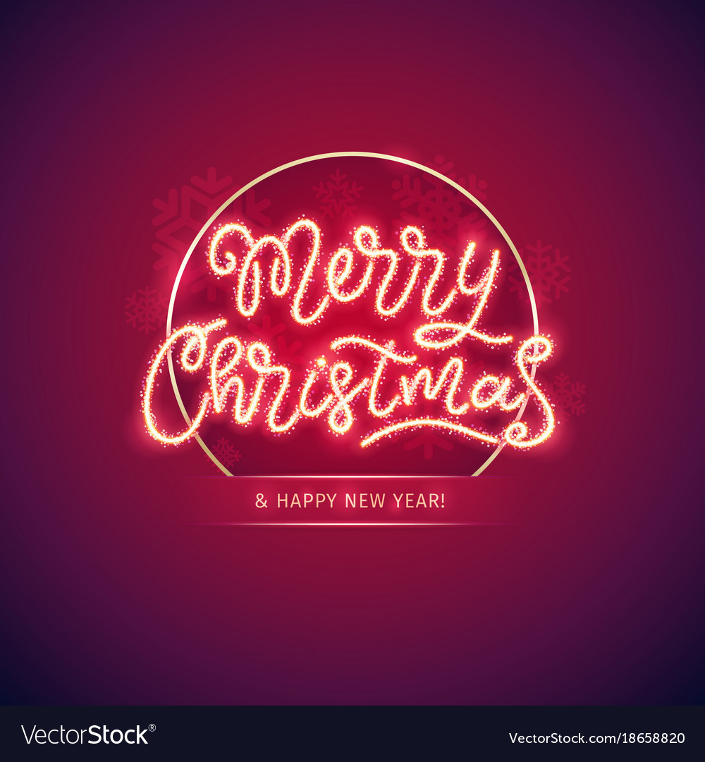 Merry christmas and happy new year poster