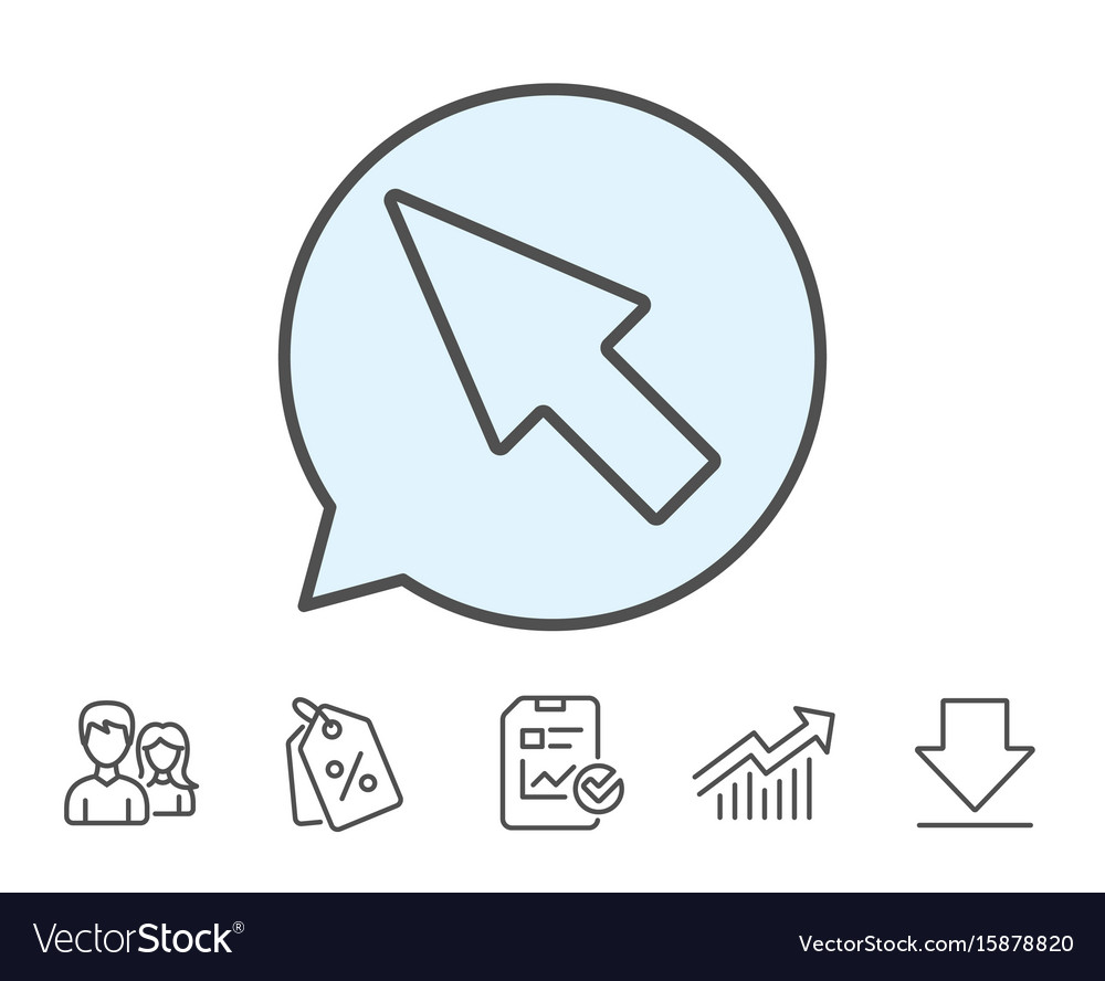 Mouse cursor line icon pointer sign