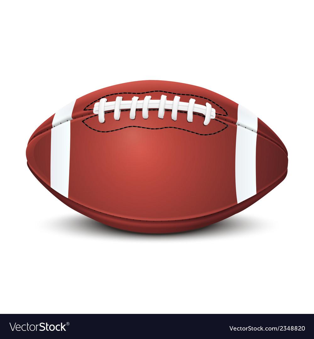 Realistic american football ball