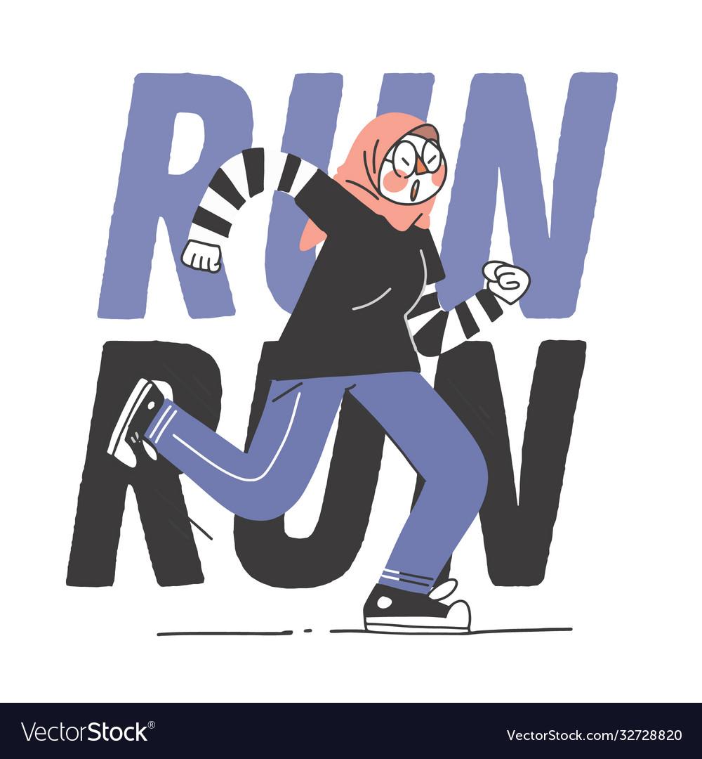 Running jogging track muslim islam hijab teen