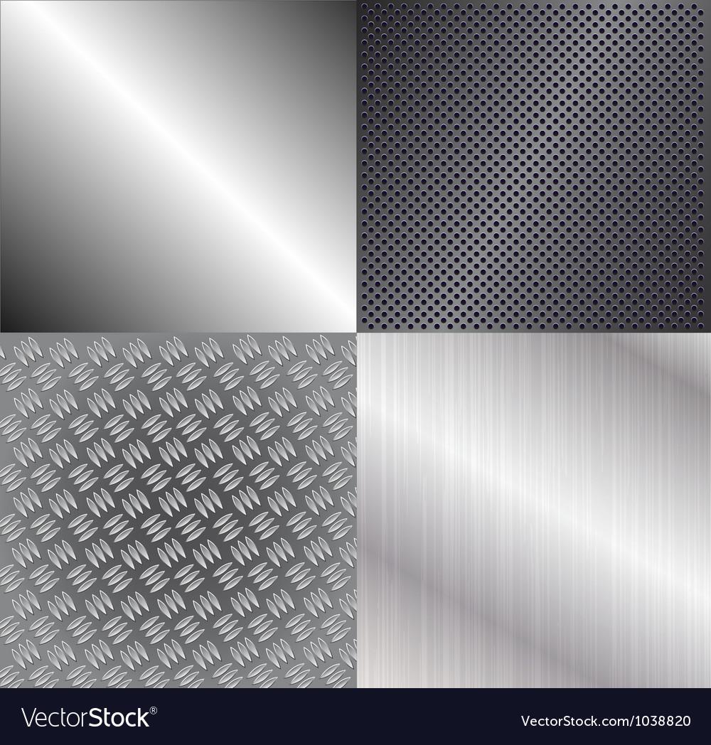 Set of metallic backgrounds