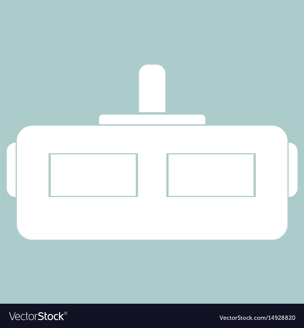 Virtual reality helmet the white color icon vector image