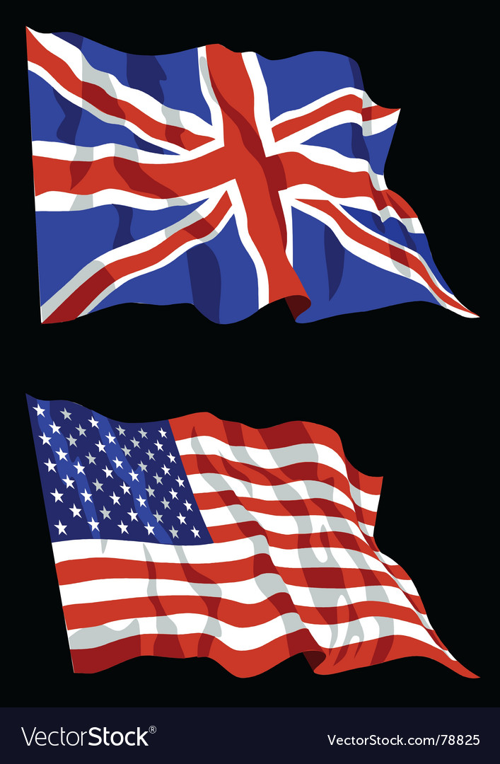 British american flags