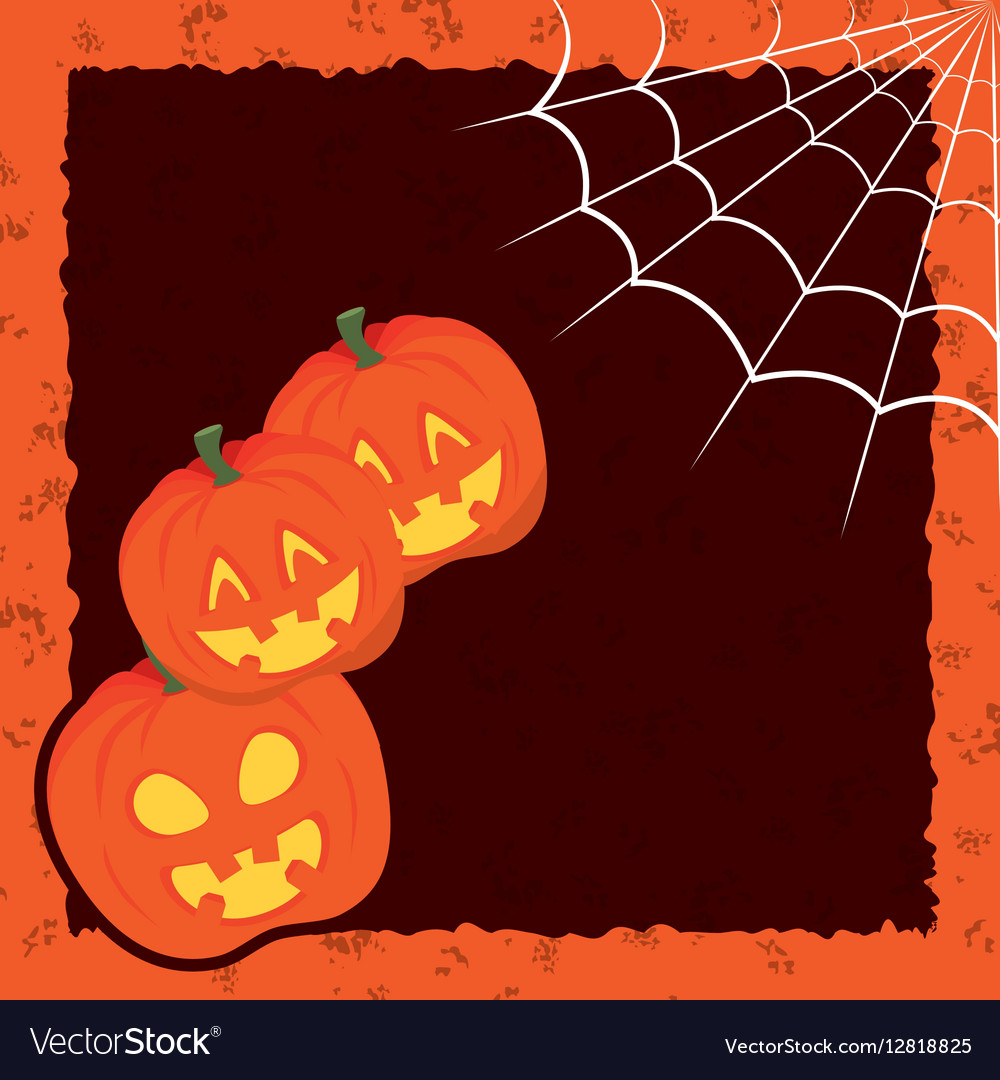 Halloween card party invitation Royalty Free Vector Image