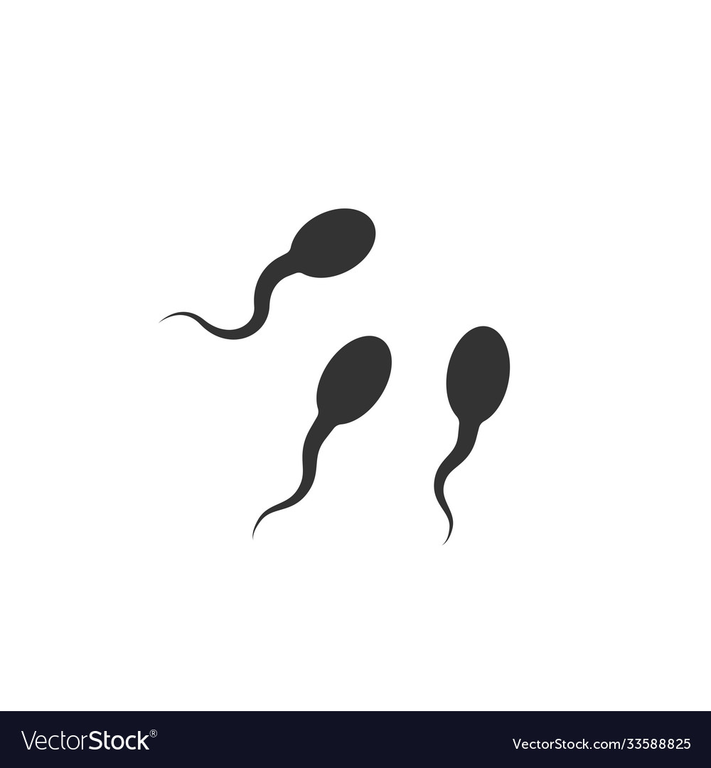 Icon sperm cell on white background