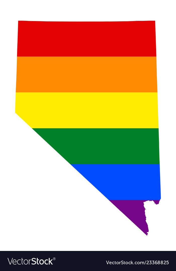 Lgbt flag map of nevada rainbow map of nevada in