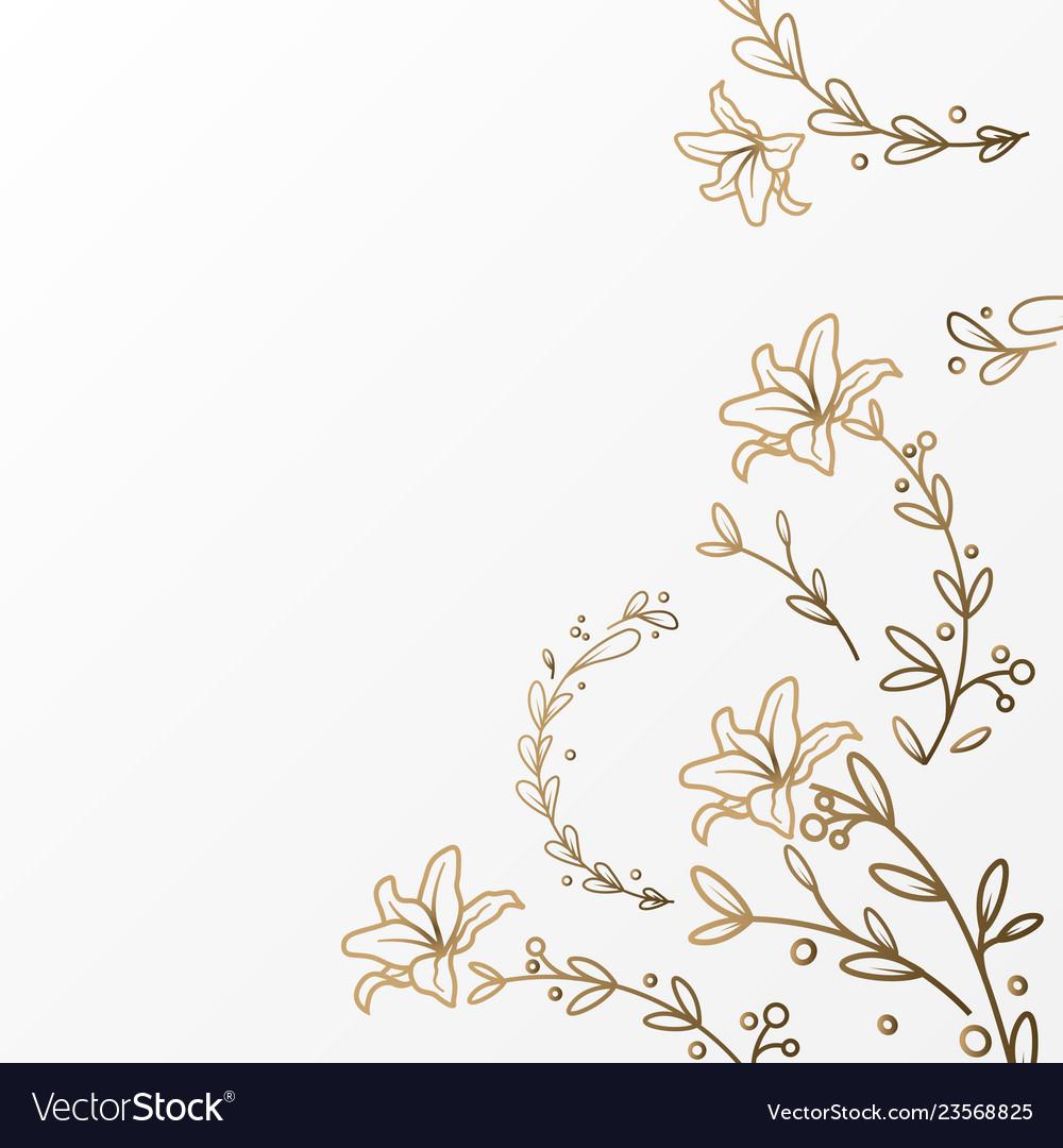 Luxury flower background template