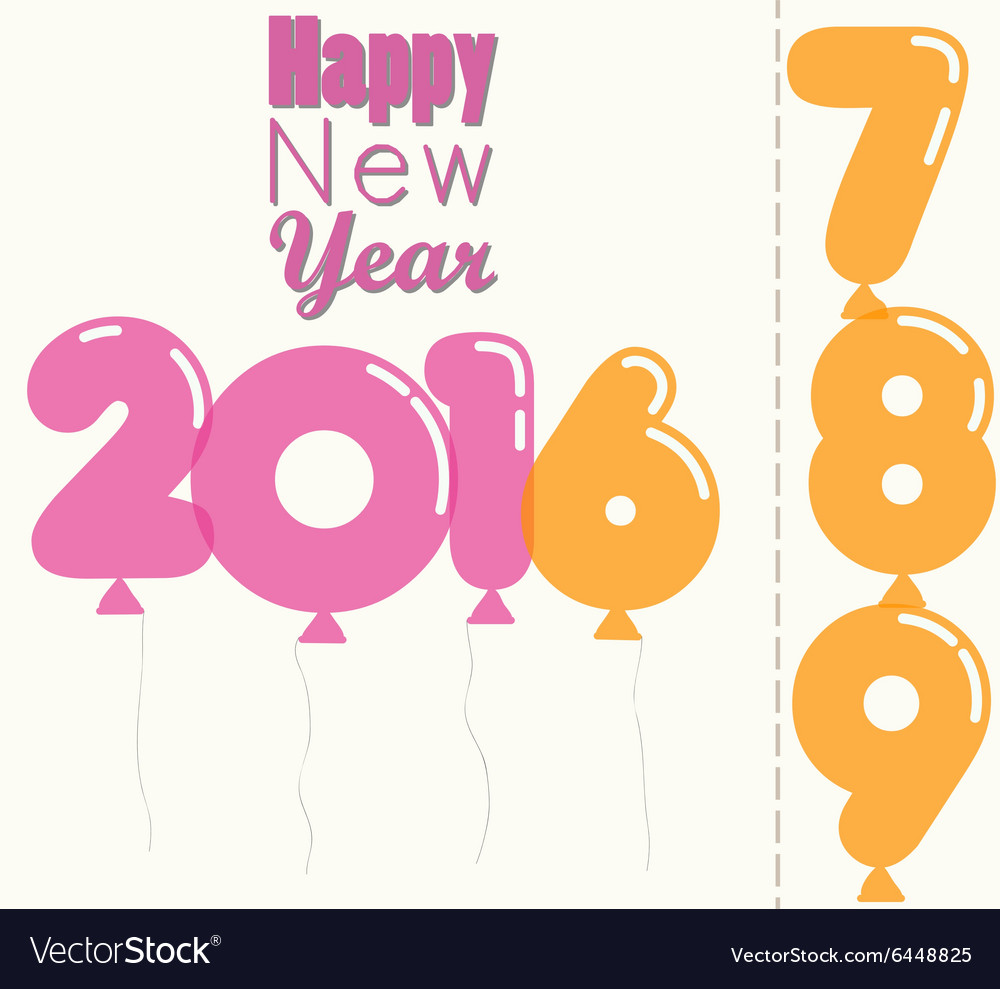 New Year 2016 transparent balloons