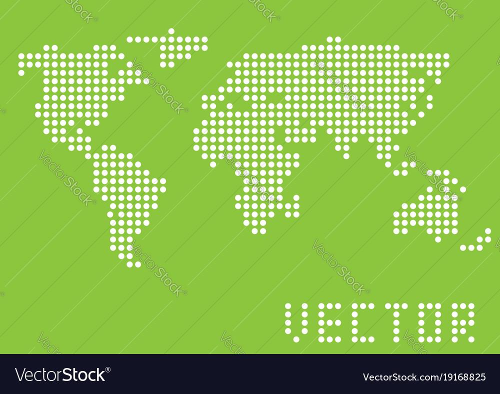 simple world map royalty free vector image vectorstock