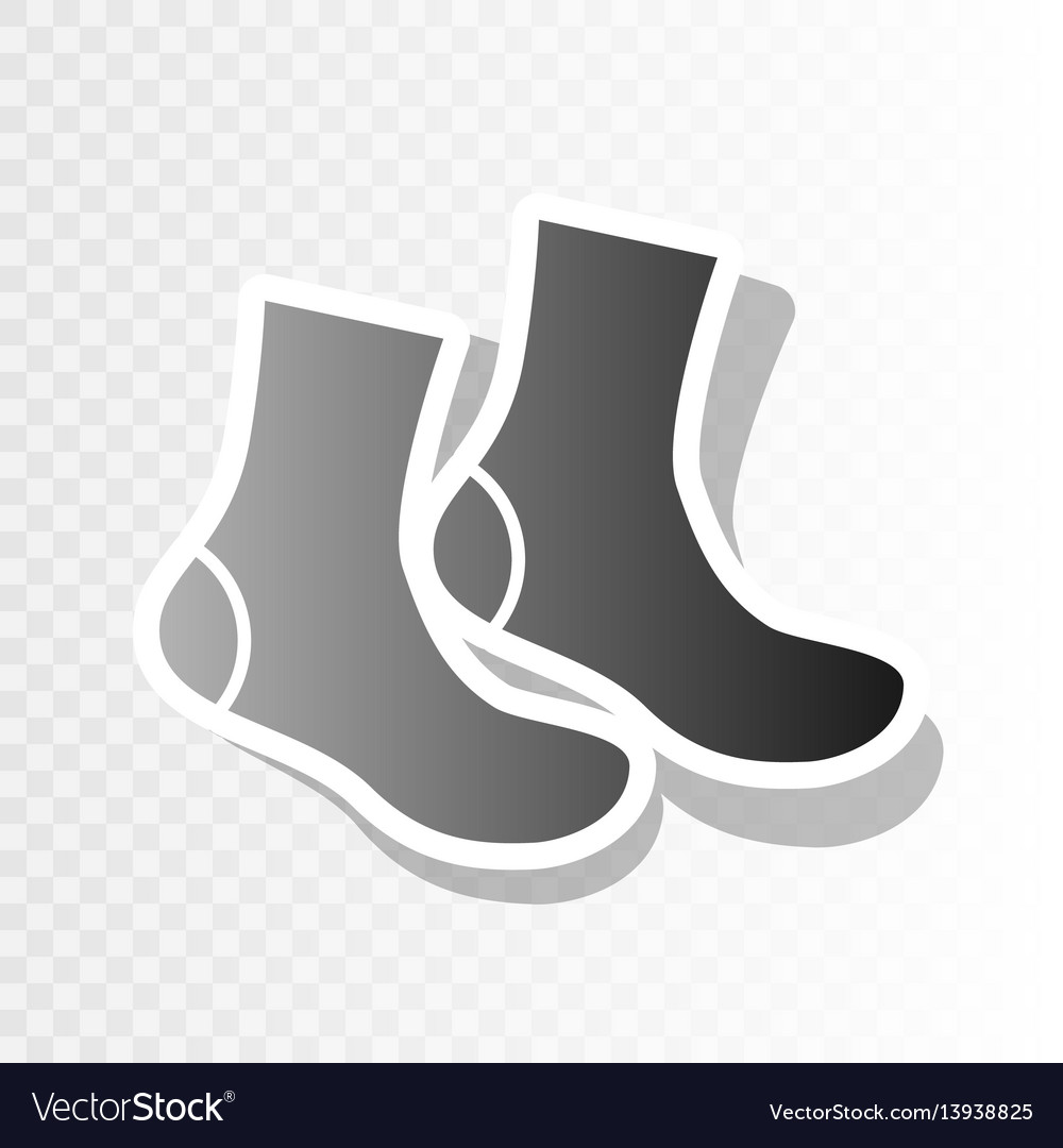 Socks sign new year blackish icon on vector image