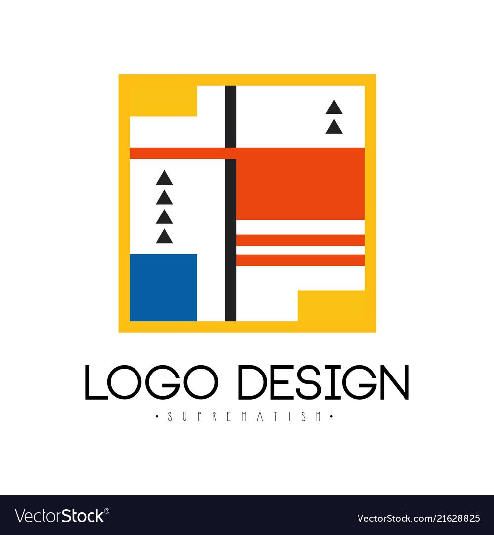 Suprematism logo design abstract modern geometric
