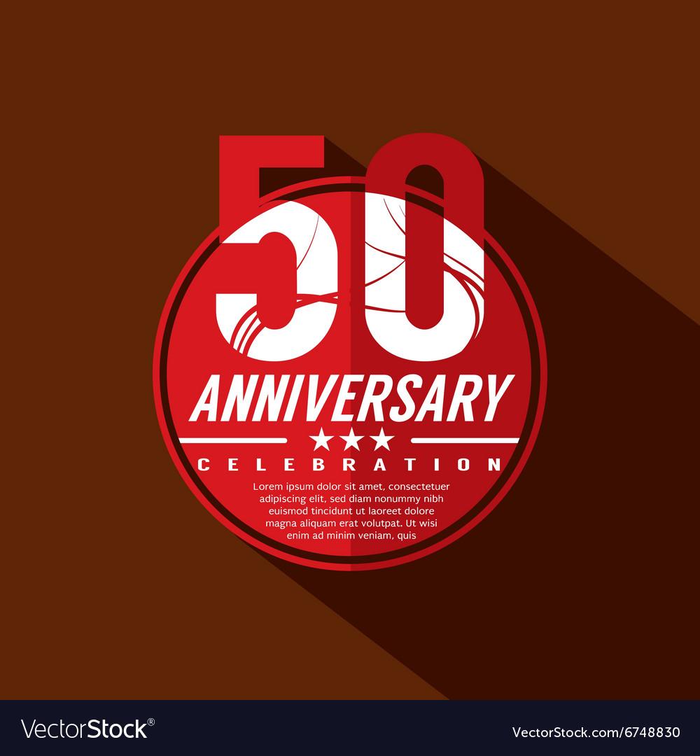 50 Years Anniversary Celebration Design