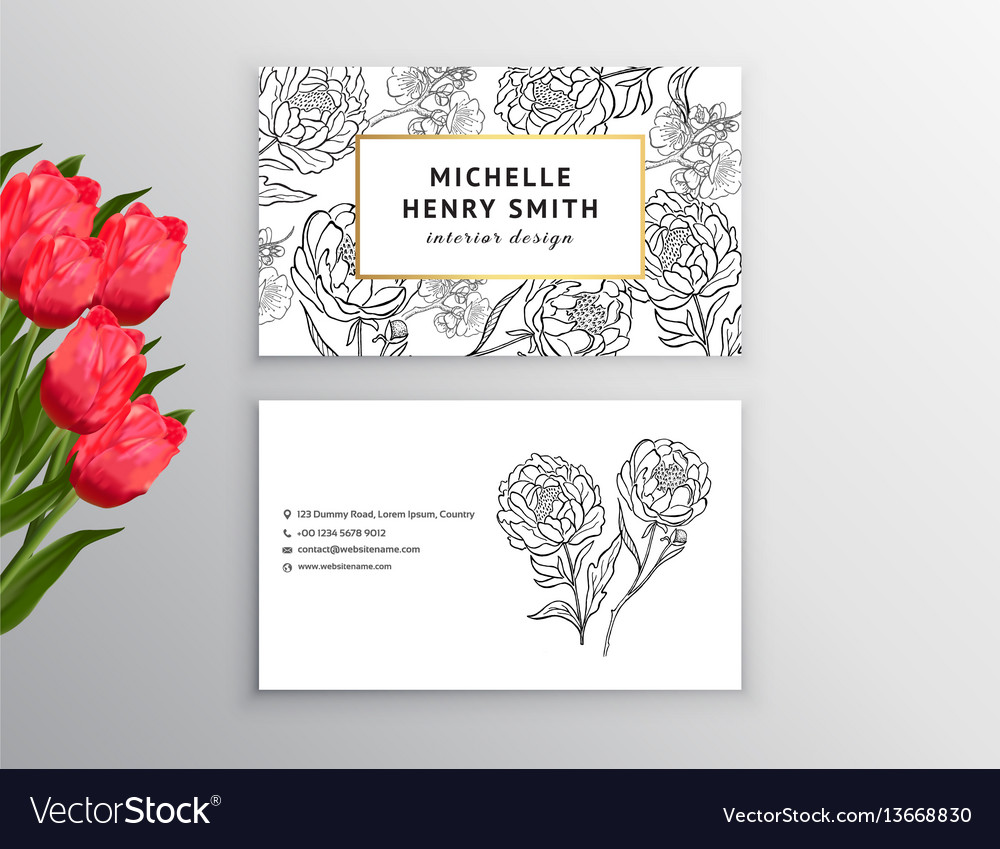 Business card template design element can