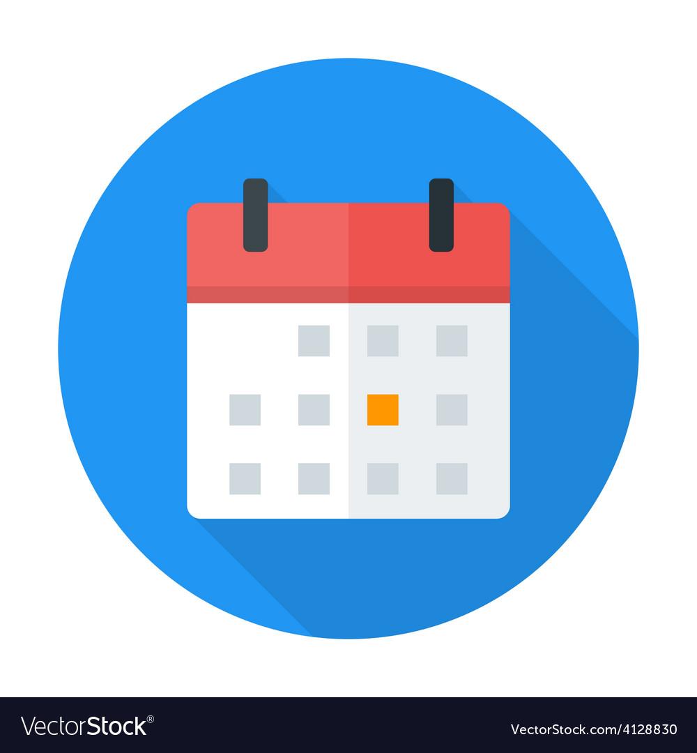 calendar flat circle icon royalty free vector image