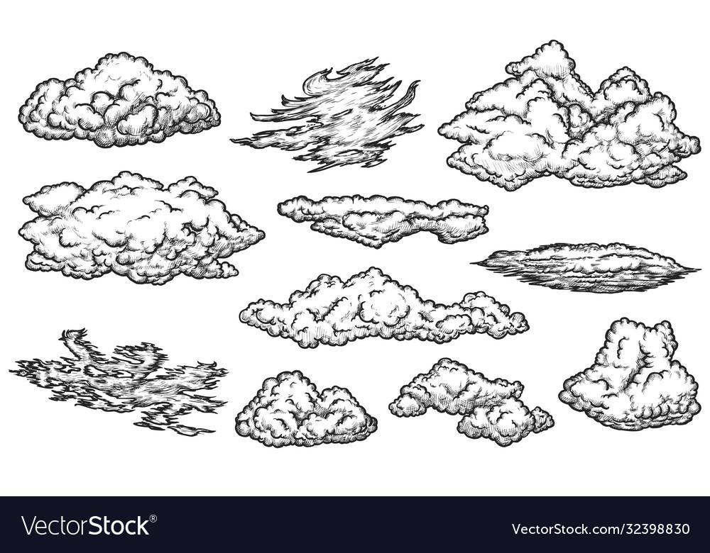Cloud sketch set